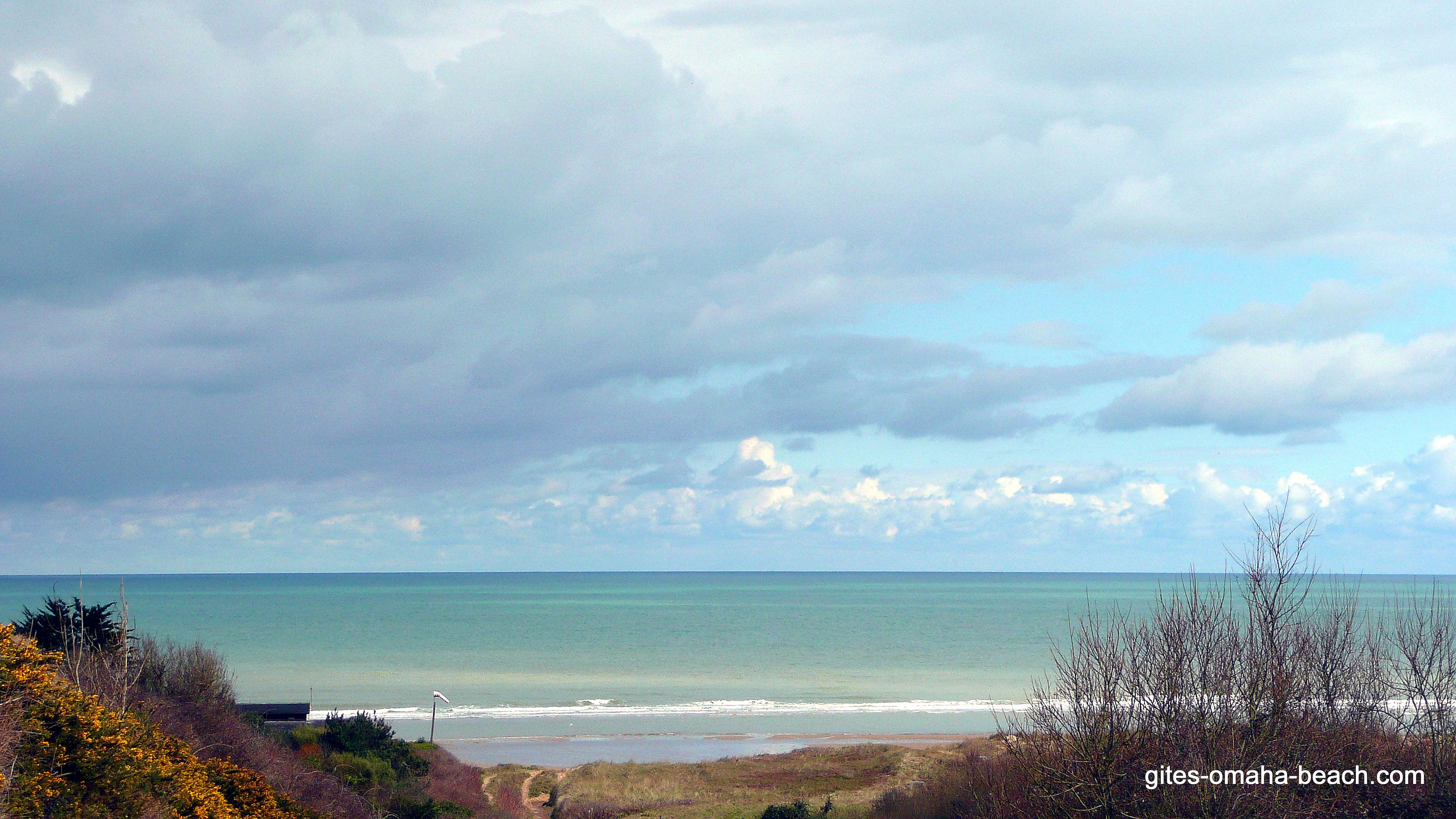Colleville sur mer, la plage
