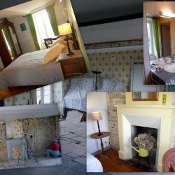 """La chambre """"Au jardin, avec Van Gogh"""", avant/après"""