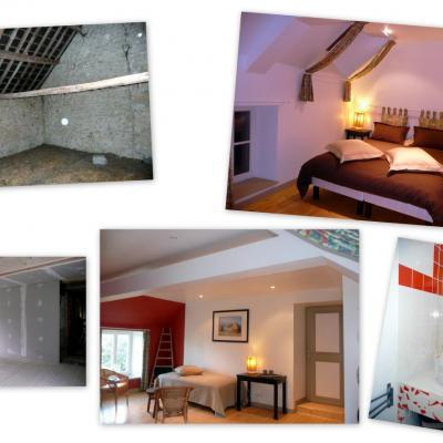 "La chambre ""Au grenier, avec Monet"""
