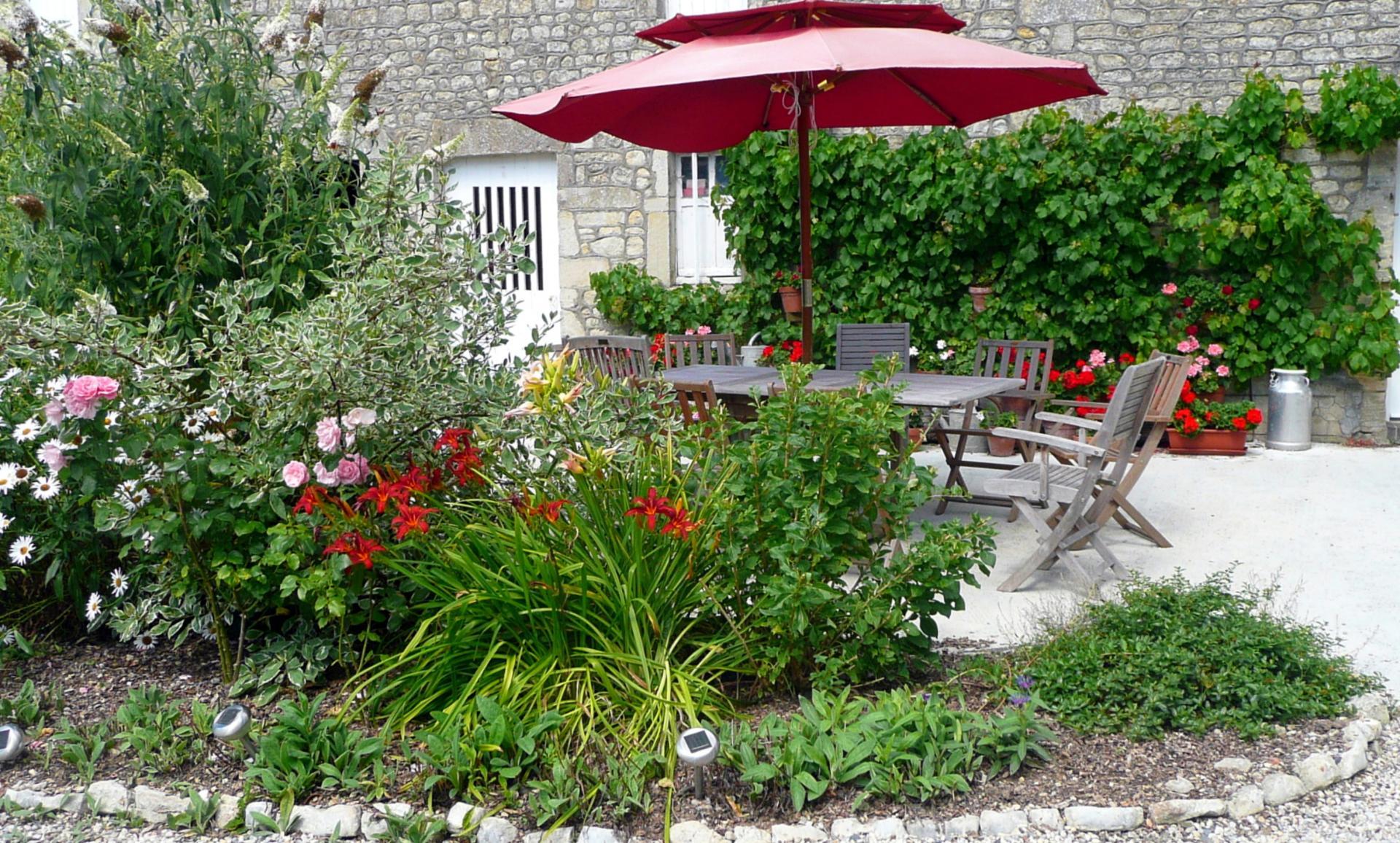 Maison d'hôtes : la terrasse