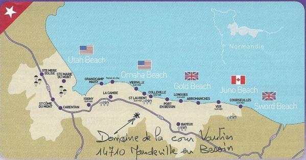 Plan plages du débarquement
